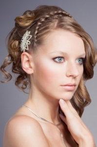 Half-updo thin braid hairstyles