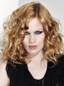 Sexy Shoulder Lenth Blonde-Medium length Wavy Haircuts